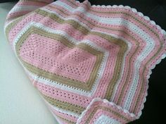 I love to crochet sweet baby blankets for gifts