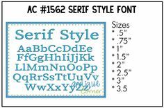 Serif Style