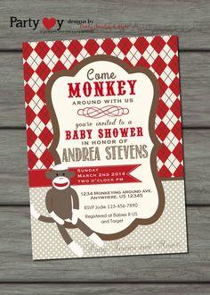 sock monkey baby shower vintage sock monkey by