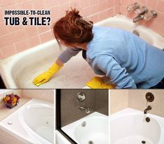 Has your bathtub & tile become impossible to clean? The stains won't go away, and black mold is beginning to grow in the grout lines? It's time to call Miracle Method! We'll refinish your existing tub & tile and the surfaces will be easy to clean!