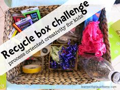 Learn with Play at Home: Recycle Box Challenge for kids