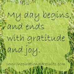Begin and End with Gratitude
