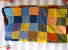 My mothers knitted blanket.