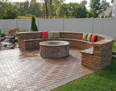 brick patio furniture | Download brick patio designs with fire pit