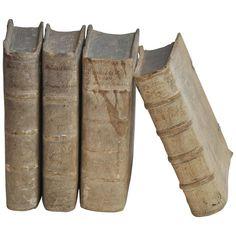Collection of Four Rare European Vellum Books 1690