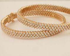 Beautiful traditional diamond bangles
