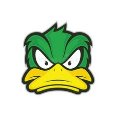 Logo Character, Character Design, Cartoon Design, Cartoon Art, Pop Art Vector, Angry Duck, Fantasy Football Logos, Duck Tattoos, Duck Drawing
