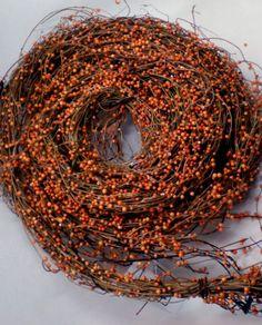 @Lisa Bresson Natural Asian Honeysuckle 9 foot Vine Faux Orange Berries   $17