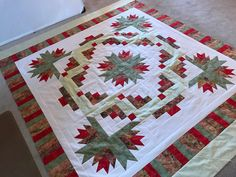 Log Cabin Quilts, Tree Skirts, Color Combinations, Favorite Color, Palette, Christmas Tree, Blanket, Holiday Decor, Home Decor