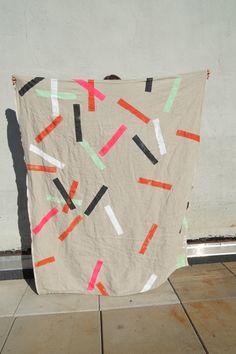 """Confetti for Rose"" blanket by Caroline Zucchero Hurley"
