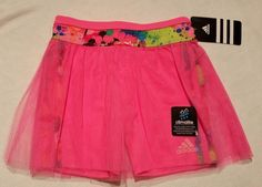 Adidas Climalite Skort Pink Girls size 5 NWT Tutu Skirt Mesh Tight #adidas #Everyday