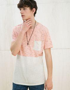 Camisetas - HOMBRE - HOMBRE - Bershka España Color Blocking 108fdd27bbd
