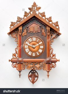 Cuckoo Clock Shop: Hand-Carved from Black Forest Germany Antique Mantle Clock, Antique Clocks, Wood Carving Art, Wood Art, Coo Coo Clock, German Nutcrackers, Black Forest Germany, Clock Shop, Modern Clock