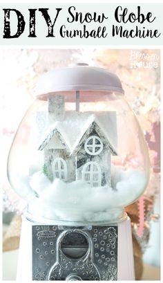 DIY Snow Globe Gumball Machine | blesserhouse.com