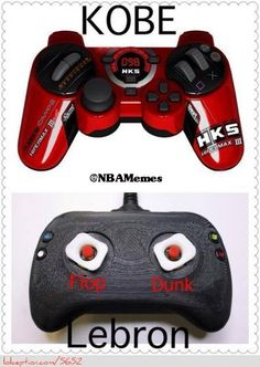 135a089ced7 Kobe Bryant vs. LeBron James  Controller Edition! - http   nbafunnymeme