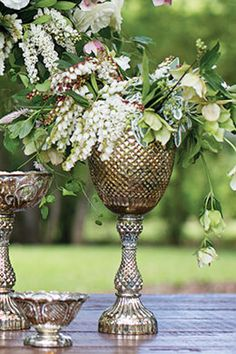 19.99 SALE PRICE! Highlight your sophisticated style with this Mercury Glass Fairytale Compote. This tall, mottled goblet features gorgeous, cut glass detail...