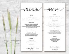 Wedding Menu Template  Wedding Menu Template Menu Templates And