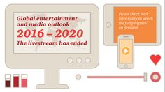 PwC's Global Entertainment and Media Outlook 2016-2020, the 17th annual edition, contains in-depth analysis and historical and forecast data for advertising and consumer/end-user spending in 13 major industry segments across 54 countries.
