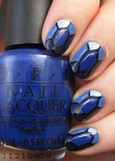 Adventures In Acetone: The Digit-al Dozen DOES The Terrific Twos, Day 3: Sapphire Nail Art!