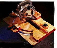 Homemade Miter Saw - Miter Saw Tips, Jigs and Fixtures - Woodwork, Woodworking, Woodworking Tips, Woodworking Techniques