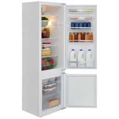 This Bosch fridge freezer integrated in white has a 227 litre capacity, SuperFreeze technology, a salad crisper drawer and reversible doors. Integrated Fridge, Top Freezer Refrigerator, Kitchen Appliances, North London, House, Diy Kitchen Appliances, Home Appliances, Home, Kitchen Gadgets