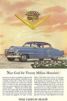 1950's Cadillac Vintage Ad