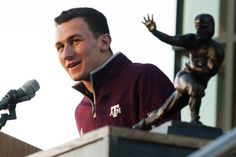 Aggies arrive up droves, Johnny Manziel gushes about fans as Texas A&M throws Heisman party on campus Cowboys Coach, Kyle Field, Johnny Manziel, Heisman Trophy, Texas Forever, Texas A&m, 12th Man, Freshman, Football Team
