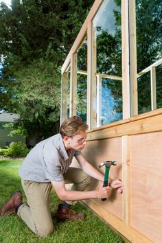 Lawn and Garden Tools Basics Building An Old Window Greenhouse Diy Small Greenhouse, Old Window Greenhouse, Diy Greenhouse Plans, Home Greenhouse, Greenhouse Gardening, Container Gardening, Buy Flowers Online, Buy Plants Online, Framing Construction