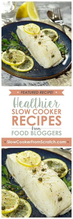 I love the idea of fish poached in coconut milk for added flavor, and it doesn't get much easier than this Slow Cooker Coconut Milk Poached Fish Fillets from Apron Strings for a healthy low-carb main dish! [found on SlowCookerFromScratch.com]
