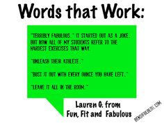 Fitness Instructor Cues from other professionals ... words that work!
