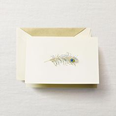 Hand Engraved Peacock Feather Notes $29.00/15 Note Cards www.hyegraph.com #peacockfeather #cards