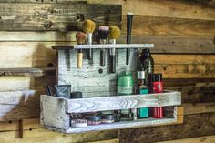 Rustic Makeup Organizer by JoyAllenDesigns on Etsy