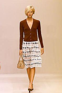 Prada Spring 2000 Ready-to-Wear Fashion Show - Maggie Rizer, Miuccia Prada
