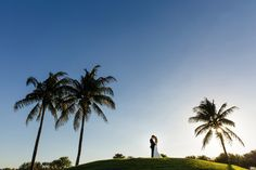 Real LDE Moment: Taylor & Paul's Palm Beach Wedding | A Lauren Daversa Event | Shot By Ambrosio Photography | Venue Trump International Palm Beach | Decor by Xquisite Events | Moment newlywed portraits at sunset.