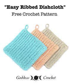 Easy Ribbed Dishcloth - Free Crochet Pattern