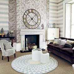 Living room with shades of brown and gray