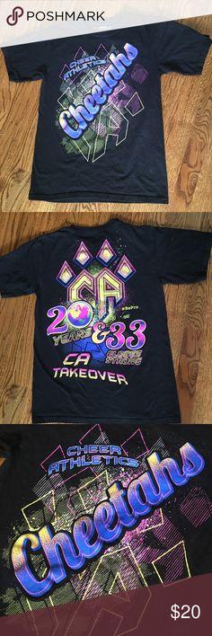 Cheer Athletics Cheetahs Worlds Tshirt Cheer Athletics Cheetahs Worlds Tshirt. Only worn twice. Any offers encouraged. Tops Tees - Short Sleeve