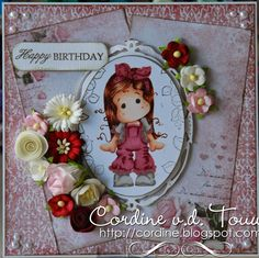 """Copic Marker Benelux: """"Happy Birthday"""" gemaakt door Cordine"""