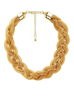 Braided Mesh Chain Necklace