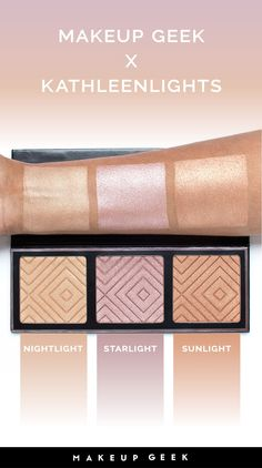 Get your glow on! KathleenLights created this highlighter palette to suit a variety of skin tones, and we think she did a great job of that!