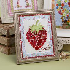 Strawberry Button Art