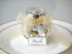 Name Place Setting Ideas Hershey Kisses In A Jar Wedding Favour Total Cost Per