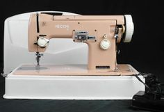 Vintage   necchi Sewing Machine Pink w Case Works Great | eBay