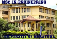Master of Science (MSc) Engineering Degree at University of Moratuwa