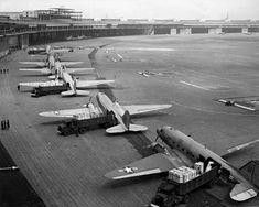 C-47s at Tempelhof Airport Berlin 1948 - Rosinenbomber