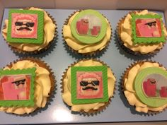 Pink sheep cupcakes. Minecraft