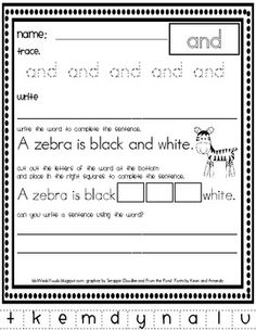 40+ pages of sight word practice for your  pre-primer kiddos! $5