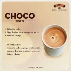 Licor Baileys, Baileys Recipes, Chocolate, Deli, Coffee Shop, Latte, Food And Drink, Drinks, Tableware