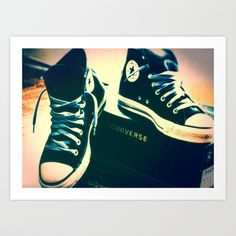 Converse Sneakers Art Print by tyler chanel photography - $18.00