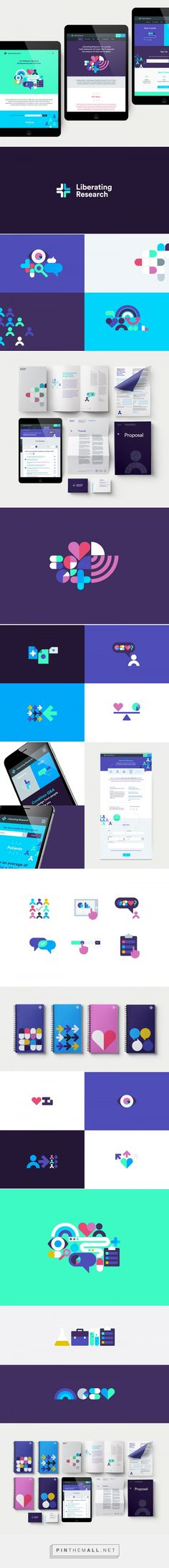 Liberating Research — Brand Identity on Behance... - a grouped images picture - Pin Them All